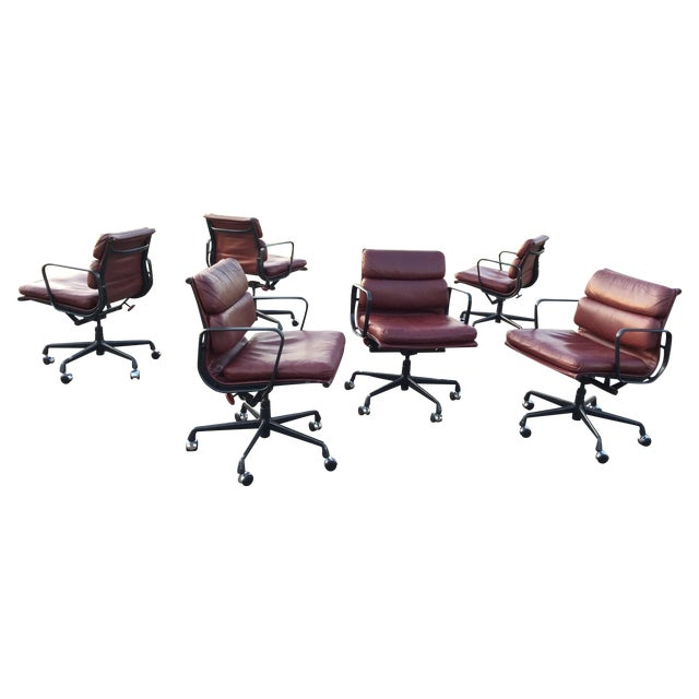 Eames Soft Pad Aluminum Group Chairs - Set of 6 - Image 1 of 11