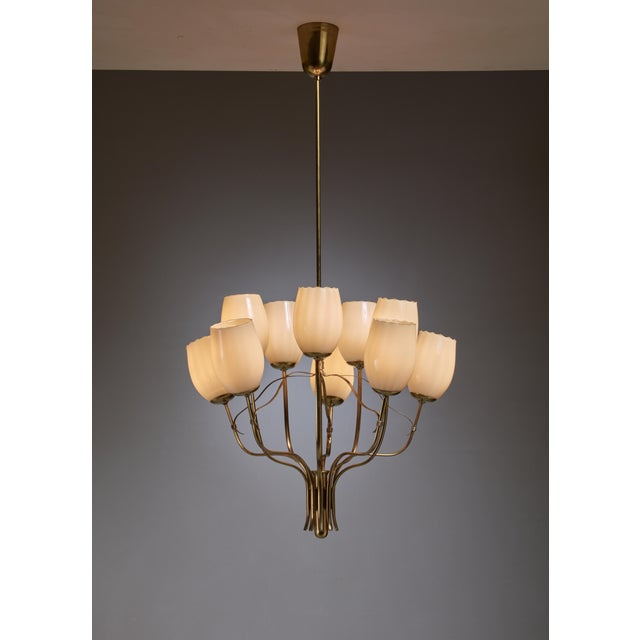 Paavo Tynell Chandelier for Sokos Helsinki House, Taito, Finland, 1950s - Image 2 of 5