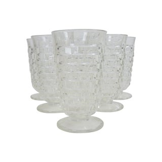Clear Glass Fostoria Footed Glasses