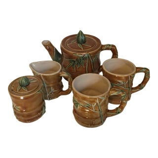 Ceramic Bamboo Coffee & Tea Set - Set of 5