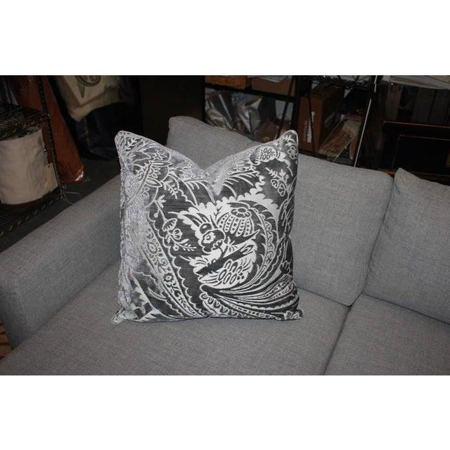 Image of Charcoal Silk/Velvet Pillows - Set of 4
