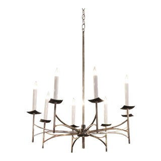 Mid-Century Silver Plated French Chandelier