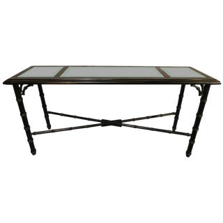 Lane Faux Bamboo Black Console
