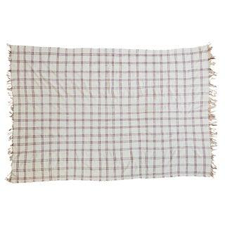 "Vintage Moroccan Plaid Textile Throw Rug - 4'3"" x 6'3"""