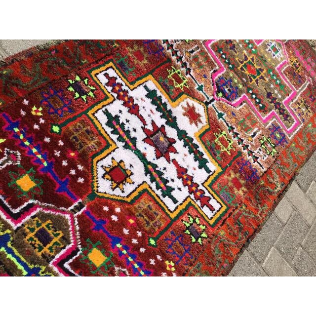Vintage Hand Knotted Turkish Runner - 2′11″ × 14′5″ - Image 6 of 7