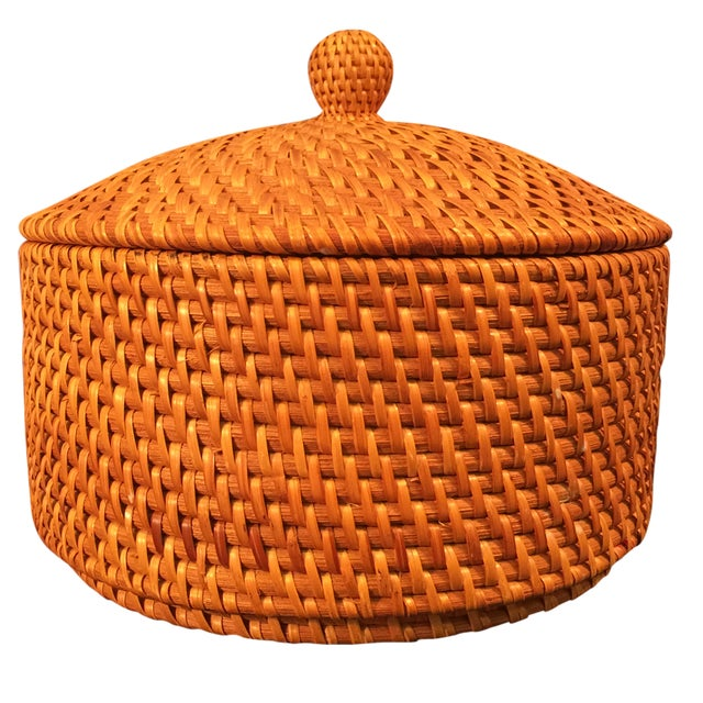 Image of Woven Lidded Basket