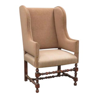 Modern William & Mary Wing Chair