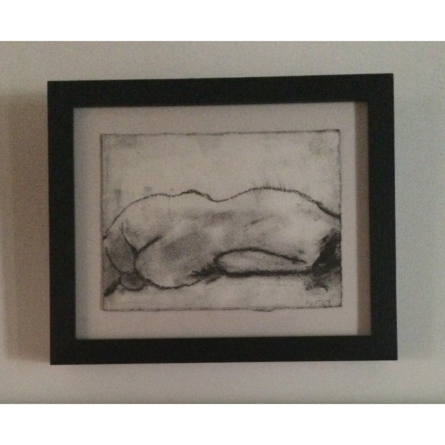 Image of Matt Alston Charcoal Framed Drawing - Nude 16