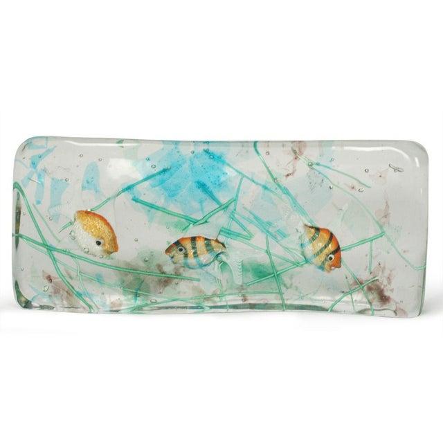 Image of Alfredo Barbini Cenedese Glass Fish Blocks - a Pair