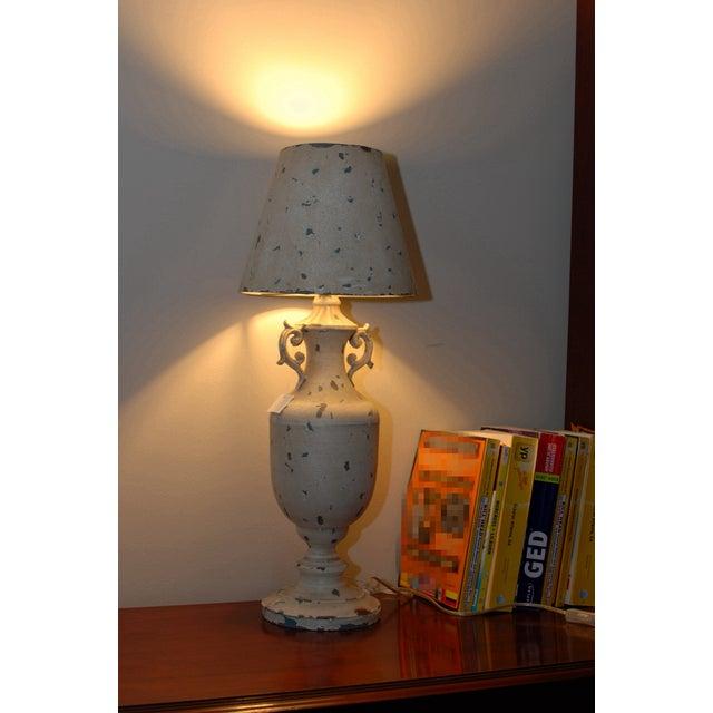 Image of Cream Metal Nostalgia Primitive Table Lamp