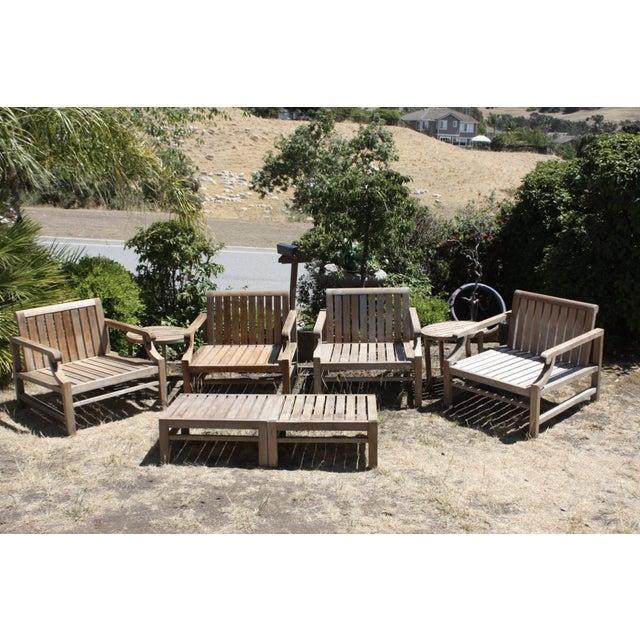 Teak Wood Patio Set - 8 Piece Set - Image 2 of 8