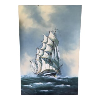 Vintage Nautical Ship Painting