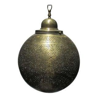 Brass Moroccan Round Pendant Chandelier