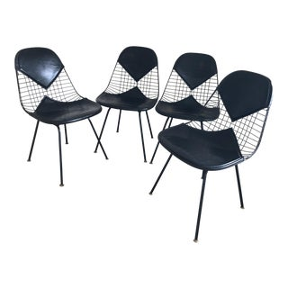 Eames for Herman Miller Black DKR-2 Bikini Chairs - Set of 4