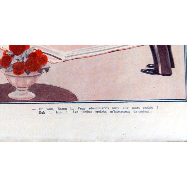 """Fournier 1925 La Vie Parisienne """" Un Amateur"""" Print - Image 3 of 5"""