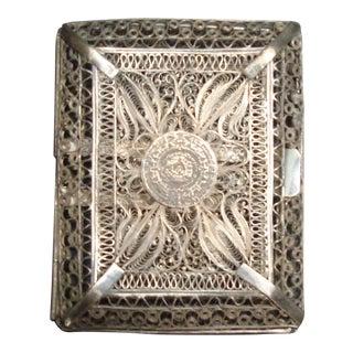 Vintage Filigree Silver Cigarette Case