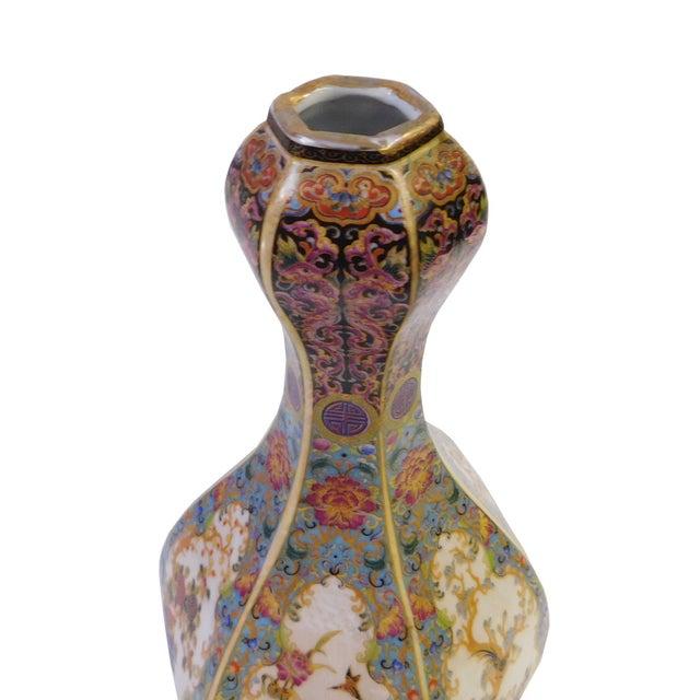 Floral Hexagon Porcelain Vase - Image 5 of 7