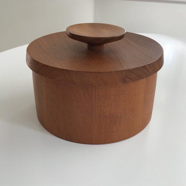 Image of Vintage Dansk Teak Ice Bucket With Lid