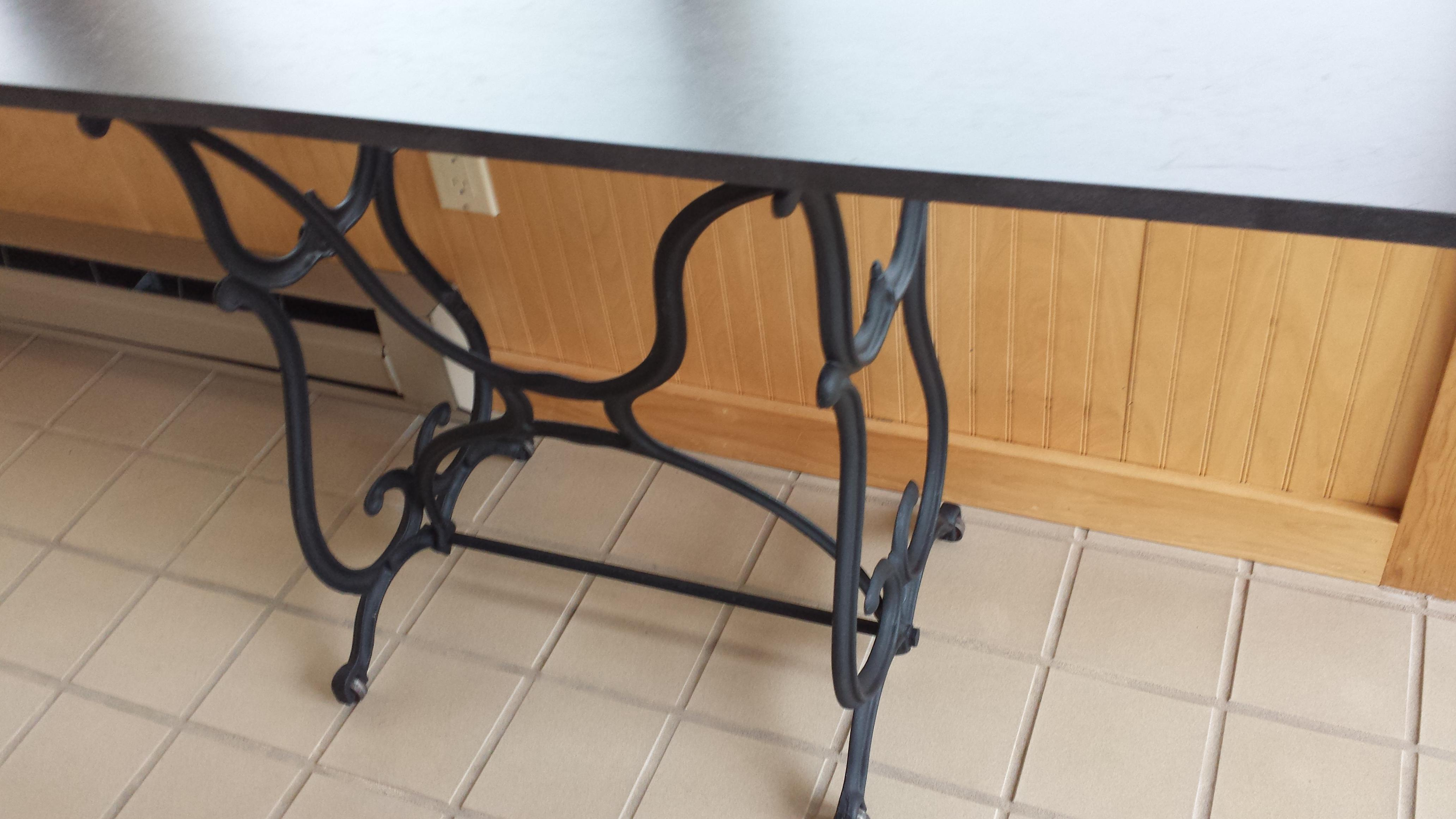 Wrought Iron U0026 Slate Top Console Table   Image 5 Of 11