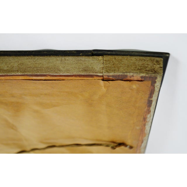 Early Beveled Wall Mirror with Glass Florets - Image 8 of 11