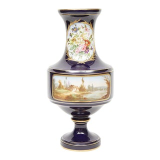 Sevres Style Hand Painted Porcelain Vase