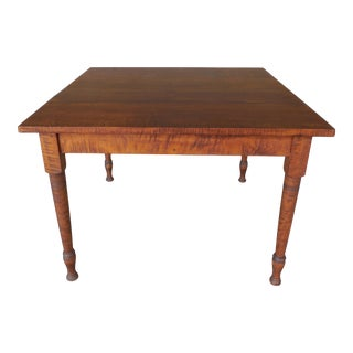 Tiger Maple Dining Table With Leaf by Tree Spirit Tables
