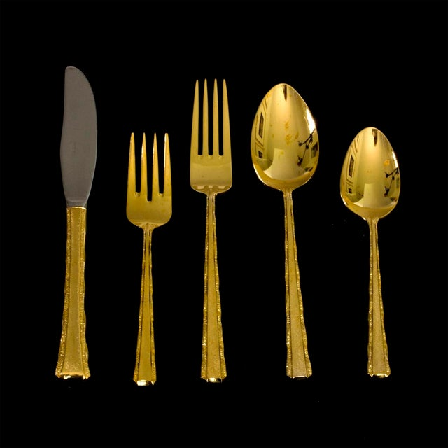 Image of Vintage Gold Plated Dinner Service - 104 Pieces