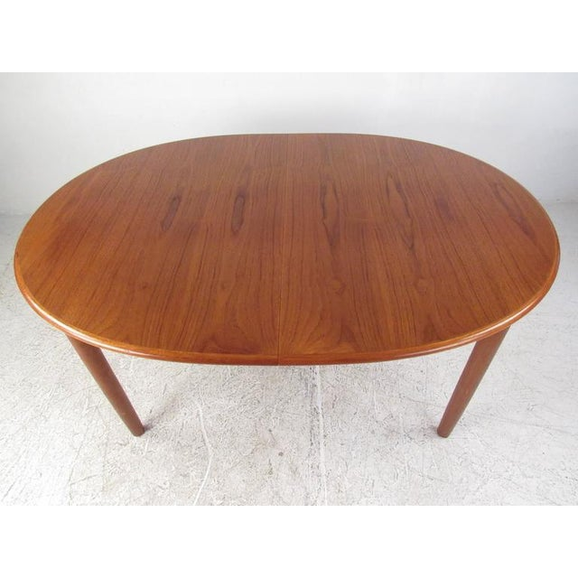 Mid-Century Modern Danish Teak Dining Table & Model 11 Moller Dining Chairs - Image 8 of 10