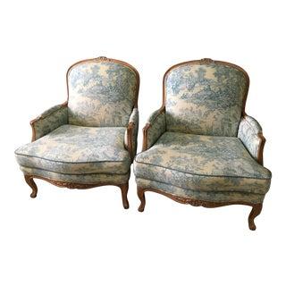 Ethan Allen Fluer De Lis Lucian Chairs - A Pair