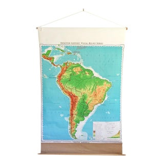 South America Pull Down School Map