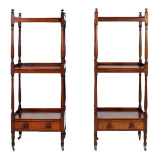 Pair of English 19th Century Mahogany Etageres or Set of Shelves