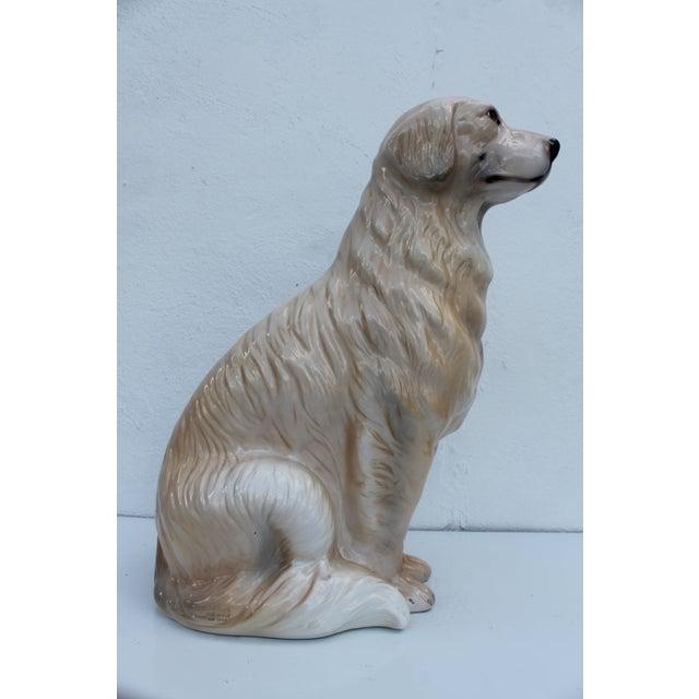 Italian Ceramic Dog Statue - Image 2 of 7