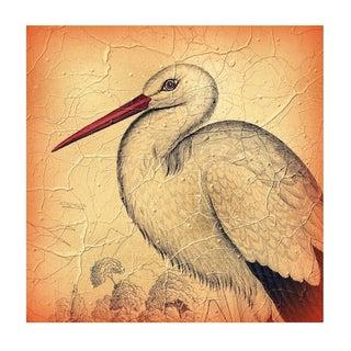 Vintage Stork Archival Print