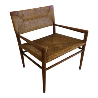 Mel Smilow Walnut Woven Rush Chair