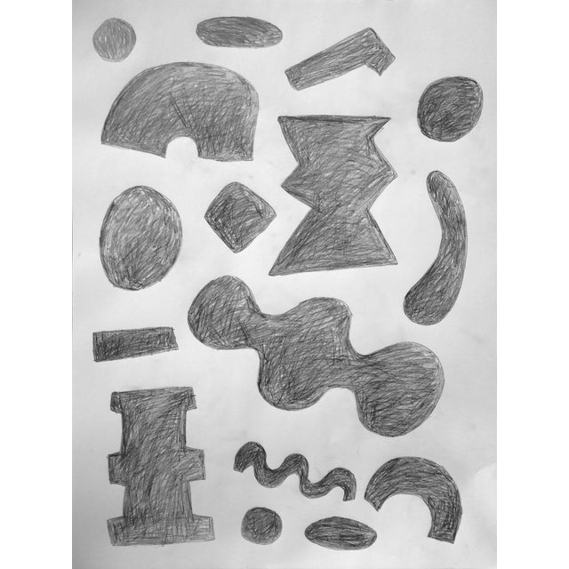 Image of 'Alphabet: Array of Grays' Drawing on Paper