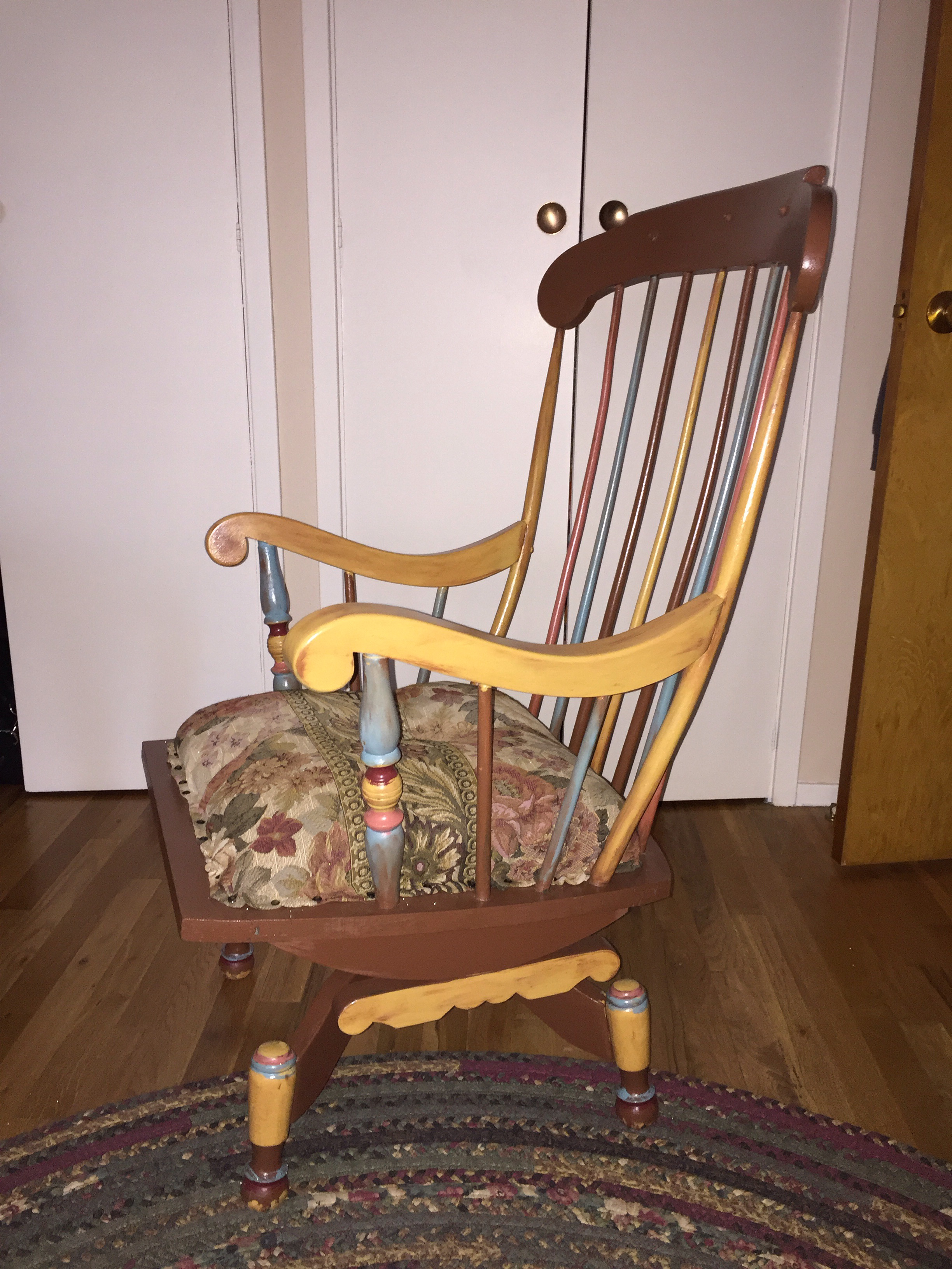 antique restored swivel rocker image 4 of 7