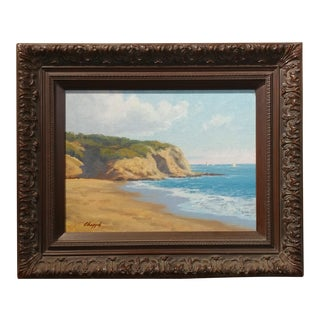 David Chapple Dana Point Coastline California Impressionist Oil Painting