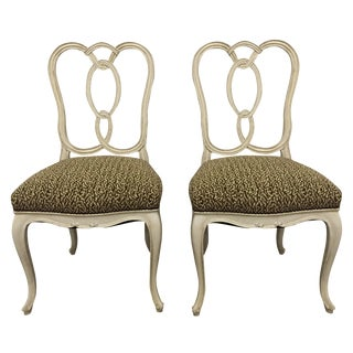 Upholstered Ribbon-Back Chairs - A Pair