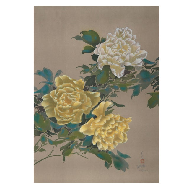 David Lee - Yellow Flowers 13 Lithograph - Image 1 of 1