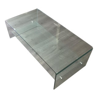 Glass Coffee Table With Shelf