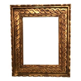 Vintage Gold Twisted Filigree Mirror