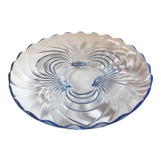 Cambridge Blue Glass Cabaret Platter