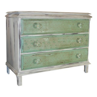 Shabby Chic Green & White Dresser