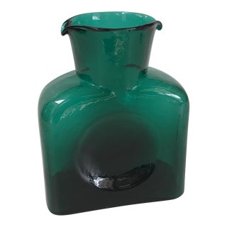 Blenko Emerald Green Pitcher