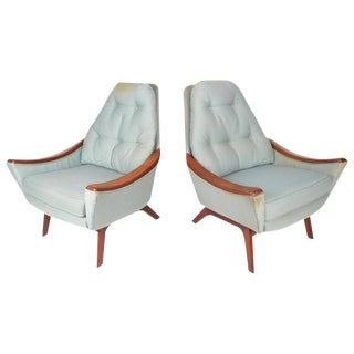 Adrian Pearsall Mid-Century Lounge Chairs - a Pair