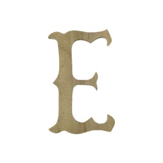 French Carved Wood Marquee Letter
