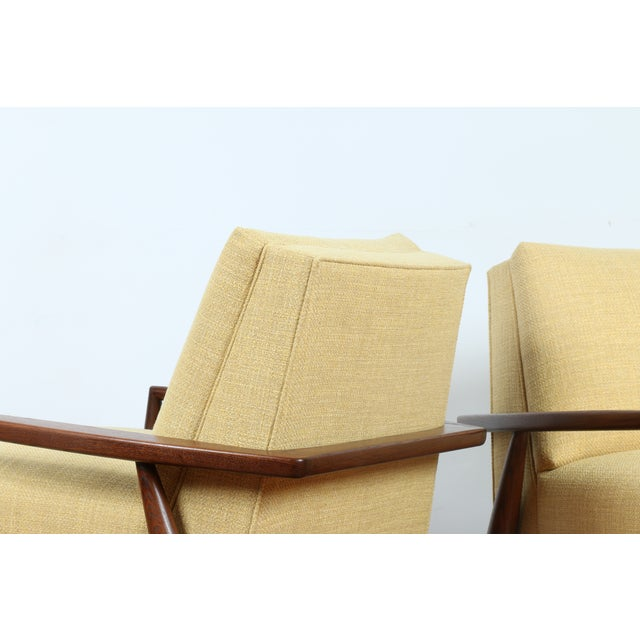 Mid-Century Ecru Lounge Chairs - A Pair - Image 11 of 11