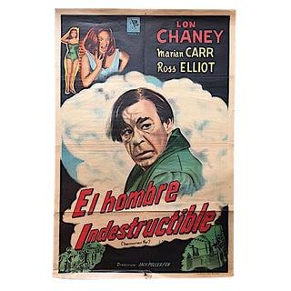 "Vintage ""El Hombre Indestructible"" Film Poster"