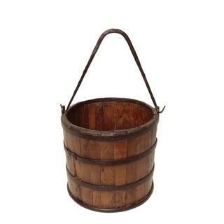 Antique Wood & Iron Bucket