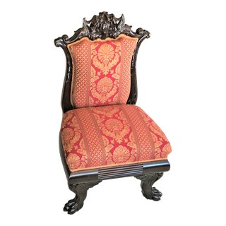 Napoleon III French Empire Low Chair